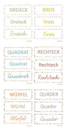 Etiquettes formes géo allemand